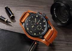 新作CURREN正規海外腕時計◆BIGフェイスブラウンベルト◆DIESEL系◆