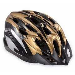★超軽量 高剛性 自転車用 ヘルメット ゴールド&ブラック
