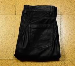 W74cm PAZZO パッゾ レザーパンツ 革パンツ 股下78cm シボ革