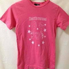 可愛い ピンク プリント Tシャツ M