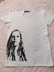 顔プリント 白Tシャツ  送料205