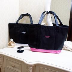 シャネル Beaute コンビカラートートバッグ ピンク色
