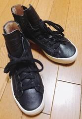 R】�@adidas スニーカー 黒 23サイズ