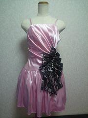 swallowtail・スワローテイル ピンク 黒レース ミニドレス