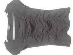 美品クードシャンス\9345ラメシャーリング半袖カットソー黒ピンダイ