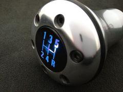 LEDバックライト付きシフトノブ汎用 ブルー