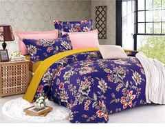 ★紫が素敵な布団カバー セミダブル4点セット★寝具カバー★