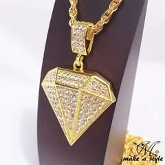 ダイヤモンド ジルコニア ゴールド 金 ネックレス 609