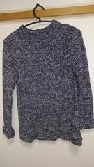 新品デュラスDURASざっくりミックスグレーニットセーター