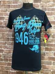S/新品!クレイスミス・ウッドペッカーキャラクターTシャツ・50'sホットロッドバイカーハーレー/75