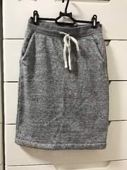 美品 UNIQLO 裏起毛 スウェット スカート グレー Sサイズ