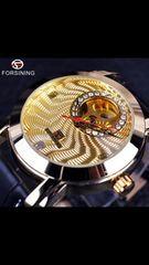 ☆高級腕時計☆ 機械式 メンズ腕時計 スケルトン ゴールド!