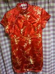 ★BODYLINE 刺繍 ラメ キラキラ チャイナドレス ゴージャス サイズ42★