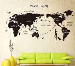 世界地図 ウォールステッカー 壁紙 シール インテリア WS02