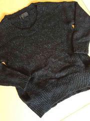 ナノユニバース ニット 黒×グレー