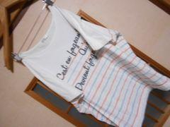 100スタセール*ハニーズドルマンボーダーカットソーL*クリックポスト164円