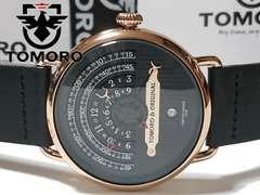 【箱・ギャラ付】極上美品 TOMORO【大型】美しいメンズ腕時計