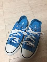 コンバース。ブルー23cm,美品