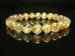 高級天然石 タイチンルチルブレスレット 8ミリ数珠 最強金運アップ