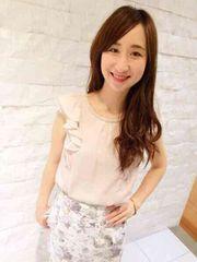 【新品タグ付】ミッシュマッシュ♪袖フレアー装飾ブラウスピンク定価7452円