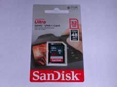 SanDisk SDHC 32GB 48MB/S 新品 送料無料