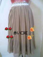 M〜L*新品 ロングプリーツスカート