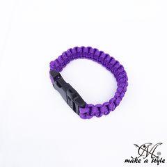 パラコード ブレスレット サバイバルブレス ロープ 紫 117