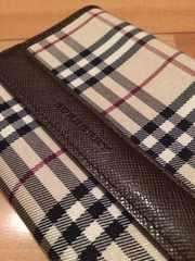 1☆正規バーバリー 二つ折り財布
