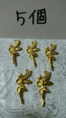 妖精ゴールドチャーム25×11�o程5個ティンカーベル好