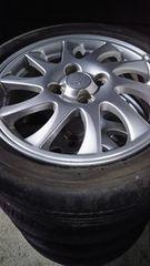 165/55R15  夏タイヤ、アルミホイール付4本セット