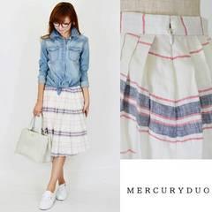 MERCURYDUO*ボーダースカート♪新品タグ付