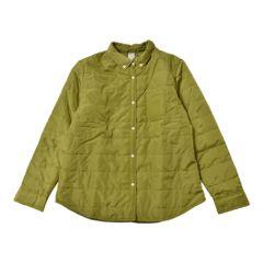 新品■3L大きいサイズ■中綿シャツジャケット■ピスタチオ