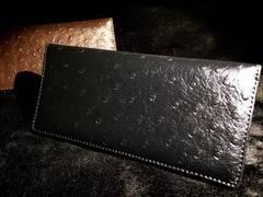 美しすぎる牛本革シープスキン型押し高級長財布