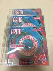 arita cd-rw 650mb 新品 未開封品