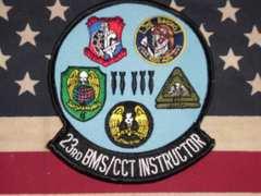 米空軍23RD BMS/CCT INSTRUCTOR パッチ