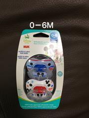 国内未発売! 0-6M NUK ミッキーマウス おしゃぶり 2個セット