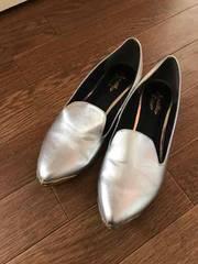 美品 アナザーエディション フラットシューズ 靴 シルバー M
