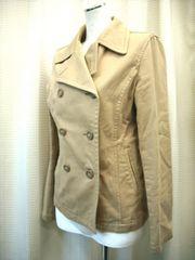 【オゾック】ライトブラウンのPコートです