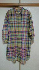 Ne-net チェックシャツワンピース サイズ:2