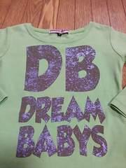 DREAMBABYS★長袖Tシャツ★美品95★黄緑×茶色