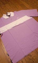 FARSCAPE半袖カノコポロシャツ 紫白  XXL 2XL�B�@ 大きいサイズ