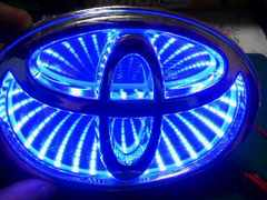 3Dエンブレムトヨタ122ミリ  ブルー