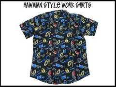 新品 レトロ オールドスクール アロハ ハワイアン ガラ ストリート USA S/S stuss(XL)