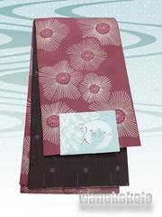 【和の志】浴衣に合わせて◇小袋帯◇小豆色系・光琳調梅◇28