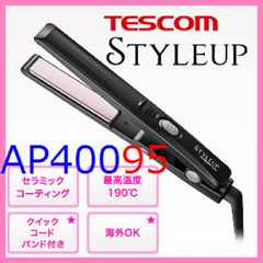 送料無料 新品 ストレートヘアアイロン テスコムSTYLEUP 海外対応 THS6-K