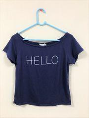 Vis/ネイビーのロゴTシャツ/Mサイズ/新品・未使用・タグ付き
