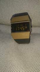 美品!BOHLA×BEAMSコラボウォッチ黒×金/メンズ腕時計