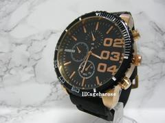 新品  腕時計 ブラック クロノグラフ風/ディーゼル好き