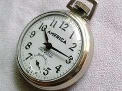 WESTclock懐中時計人気のAmerica表記
