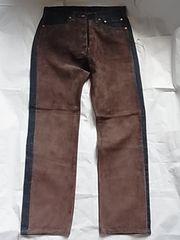 レア新品リーバイスLevi'sジーンズ501レザー革デニム32カスタム